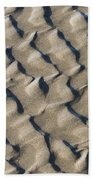 Ripple Pattern On Mudflat At Low Tide Beach Towel