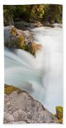 River Rapids Washing Over Rocks With Silky Look Beach Towel