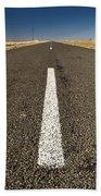 Road Ahead Beach Towel by Tim Hester