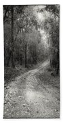 Road Way In Deep Forest Beach Towel