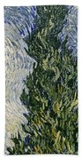 Road With Cypresses Beach Towel