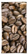 Roasted Coffee Beans Beach Towel