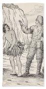 Robinson Crusoe And Friday Beach Towel