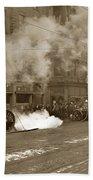 Steam Pumper Rochester Show Case Co. Fire Circa 1890s Beach Towel