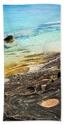 Rocks And Clear Water Abstract Beach Towel