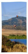 Rocky Mountain Balloon Festival Beach Towel