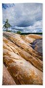 Rocky Shore Of Georgian Bay Beach Towel by Elena Elisseeva