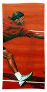 Roger Federer At Roland Garros Beach Towel
