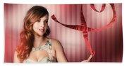 Romantic Woman In A Whirlwind Love Romance Beach Towel