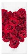 Rose Heart Beach Towel by Elena Elisseeva