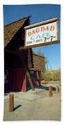 Route 66 - Bagdad Cafe Beach Towel by Frank Romeo