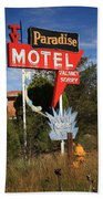 Route 66 - Paradise Motel Beach Towel by Frank Romeo