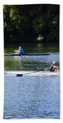 Rowing In Philadelphia Beach Towel by Bill Cannon