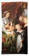 Rubens' Deborah Kip -- Wife Of Sir Balthasar Gerbier -- And Her Children Beach Towel