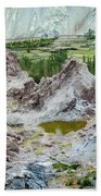 Ruins At Basgo Monastery Ladakh India Beach Towel