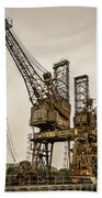 Rusty Cranes At Battersea Power Station Beach Towel