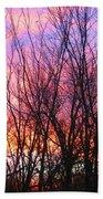 Red Sky In Morning Beach Towel