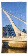 Samuel Beckett Bridge Dublin Beach Towel