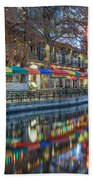 San Antonio Riverwalk Beach Towel