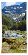 Scenic Valley In New Zealand Beach Towel