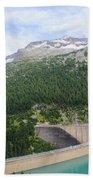 Schlegeis Dam And Reservoir  Beach Towel