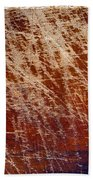 Scratched Wood Texture Beach Towel