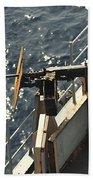 Seaman Fires A .50-caliber Machine Gun Beach Towel