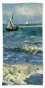 Seascape Near Les Saintes-maries-de-la-mer Beach Towel