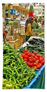 Selling Fresh Vegetables In Antalya Market-turkey Beach Towel