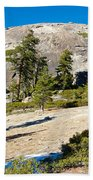 Sentinel Dome From Sentinel Dome Trail In Yosemite Np-ca  Beach Towel