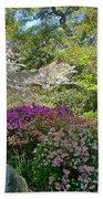 Serene Garden Beach Towel