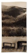 Severed Car Dos Cabezos Mountains Ghost Town Dos Cabezos Arizona 1967 Beach Towel