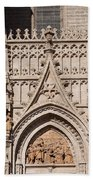 Seville Cathedral Ornamentation Beach Towel