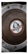 Shelby Cobra Steering Wheel Emblem Beach Towel