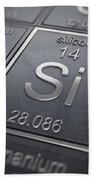 Silicon Chemical Element Beach Towel
