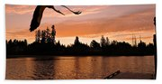 Silver Lake Sunset Beach Towel