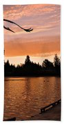 Silver Lake Sunset Beach Towel