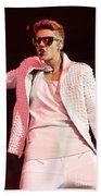 Singer Justin Bieber Beach Towel