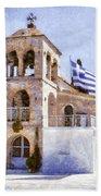 Small Greek Church Beach Towel