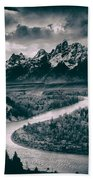 Snake River In The Tetons - 1930s Beach Towel
