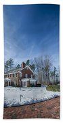 Snow Around Billy Graham Library After Winter Storm Beach Towel
