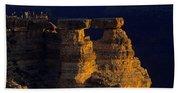 South Rim Grand Canyon Taken Near Mather Point Sunrise Light On  Beach Towel