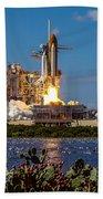 Space Shuttle Atlantis Launch Beach Towel