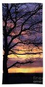 Spectacular Sunset Epsom Downs Surrey Uk Beach Towel