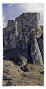 Spissky Hrad Castle Beach Towel