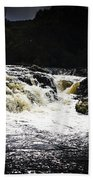 Splashing Australian Water Stream Or Waterfall Beach Towel
