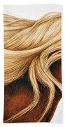 Spun Gold Beach Towel by Pat Erickson