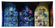 Stained Glass Chagall Windows Beach Sheet
