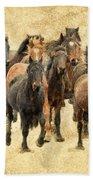 Stampede Of Wild Horses Beach Towel