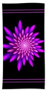 Starburst-32 Framed Black And Pink Beach Towel